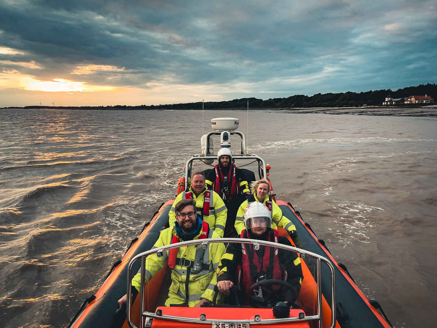 Members of the Hamers team aboard the Humber Rescue boat